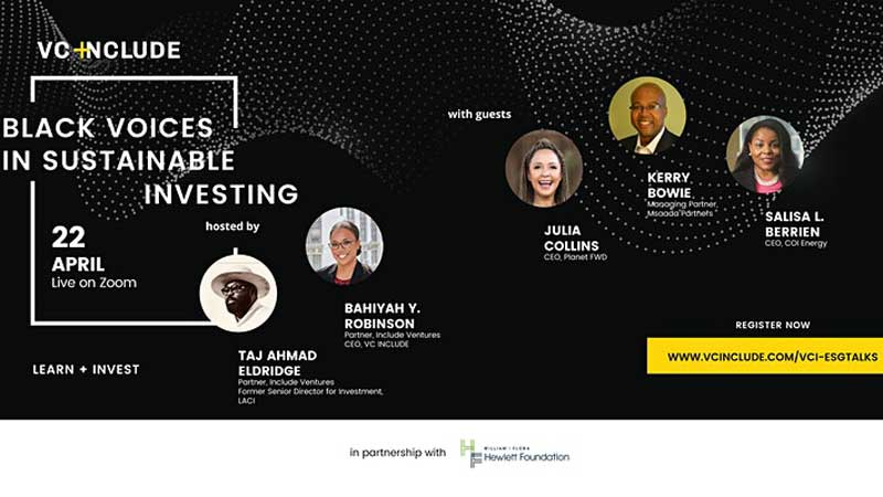 VC Include to host sustainable investing event